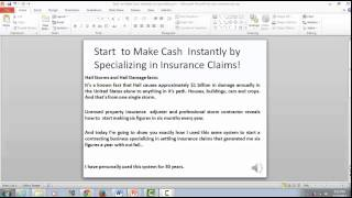 Start to Make Cash Instantly by specializing in settling insurance claims.