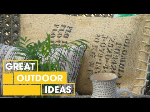 how-to-make-cushions-from-coffee-bags- -outdoor- -great-home-ideas