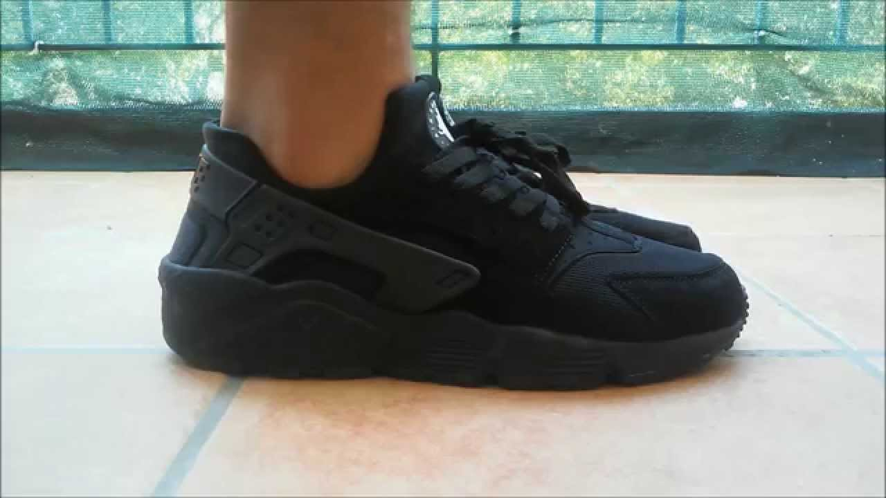 nike huarache all black ebay
