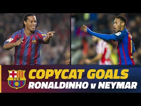Copycat goals: Ronaldinho vs Neymar Jr