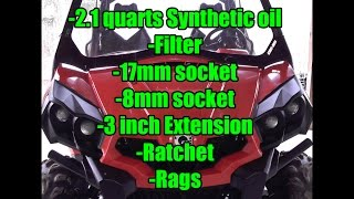 Can-Am Commander 800R-XT or 1000: Oil Change: 2.1 Quarts Full Synthetic 5w-40, Oil Filter