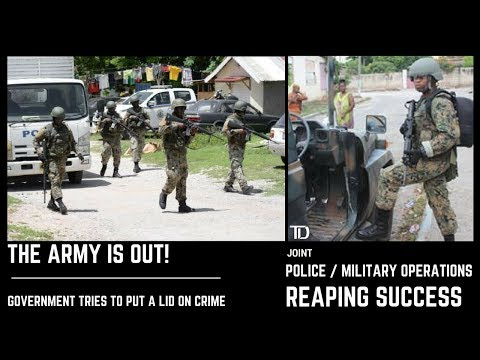 The ARMY IS OUT! JDF SOLDIERS are out in NUMBERS to ASSIST the JCF in the FIGHT against CRIME!