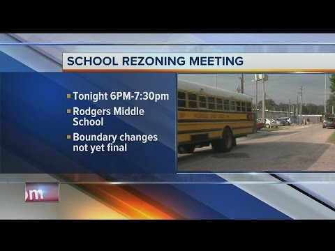 School rezoning meeting at Rodgers Middle School on Monday