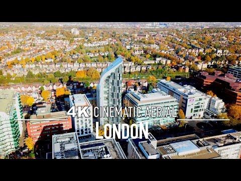 LONDON EALING Drone 4K ACTON UNITED KINGDOM UK ENGLAND