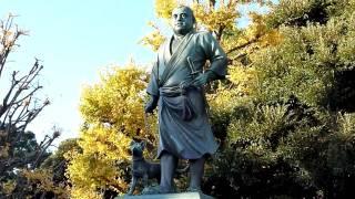 2009.12.6 西郷隆盛像 上野恩賜公園 Takamori Saigo Bronze statue. Uen...