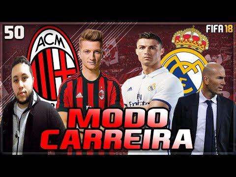 A IMPRENSA ESTÁ CONTRA NÓS! HORA DE ENCARAR O REAL MADRID! - Fifa 18: Modo Carreira Milan #50
