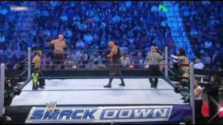 Rey Mysterio & Kane vs  CM Punk & Luke Gallows Part 1