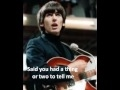 The Beatles- I Need You (with lyrics) (Stereo Remastered)