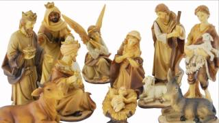 11-pc Gold Tone Nativity Set