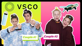 Becoming the ULTIMATE VSCO GIRLS for 24 HOURS with My CRUSH **COUPLES CHALLENGE** | Sophie Fergi