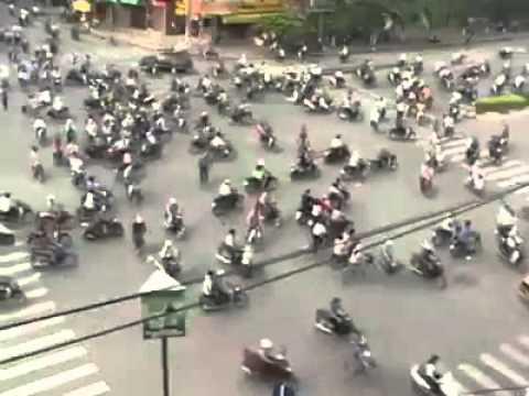Crazy Traffic Light In Vietnam...