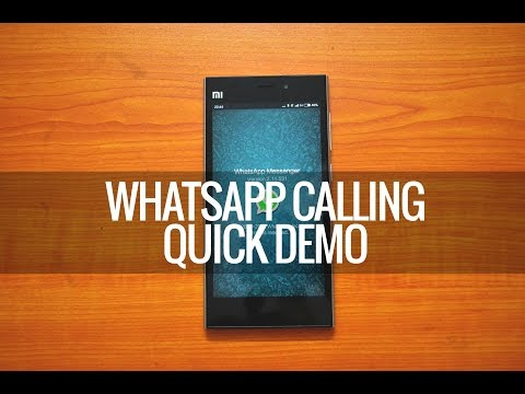 WhatsApp Voice Calling- How to Get it and Quick Demo