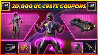 163 Crate Coupon worth 20,000 UC Crate Opening in PUBG Mobile - Mirado skin, Mythic Outfit