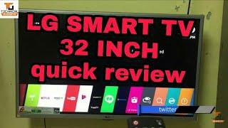 LG 32'' SMART TV LED QUICK REVIEW [HINDI-2017]