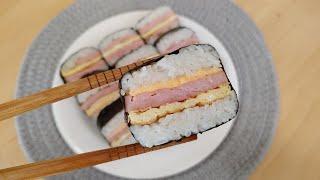 스팸무스비 틀 없이도 김밥 맛있게 싸는법 아이들간식으로…