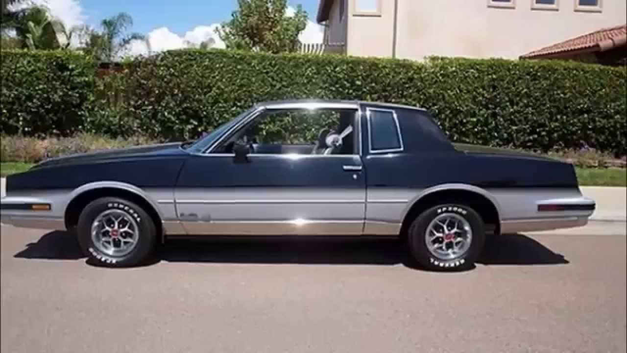 Pontiac pontiac gxp specs : 1987 Pontiac Grand Prix 305 V8 - YouTube