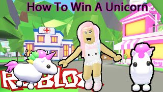 How To Win A Free Unicorn In Roblox Adopt Me