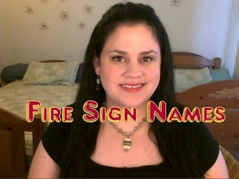 FIRE Sign Baby NAMES
