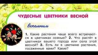 """Окружающий мир 2 класс ч.2, Перспектива, с.78-81, тема урока """"Чудесные цветники весной"""""""