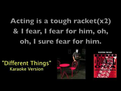 Different Things (Karaoke Video) from A Roadkill Opera