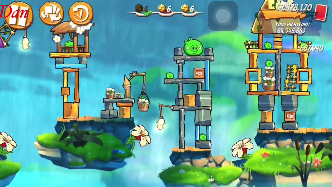 Angry Birds 2 Mighty Eagle Bootcamp (mebc) with bubbles 03/03/2021