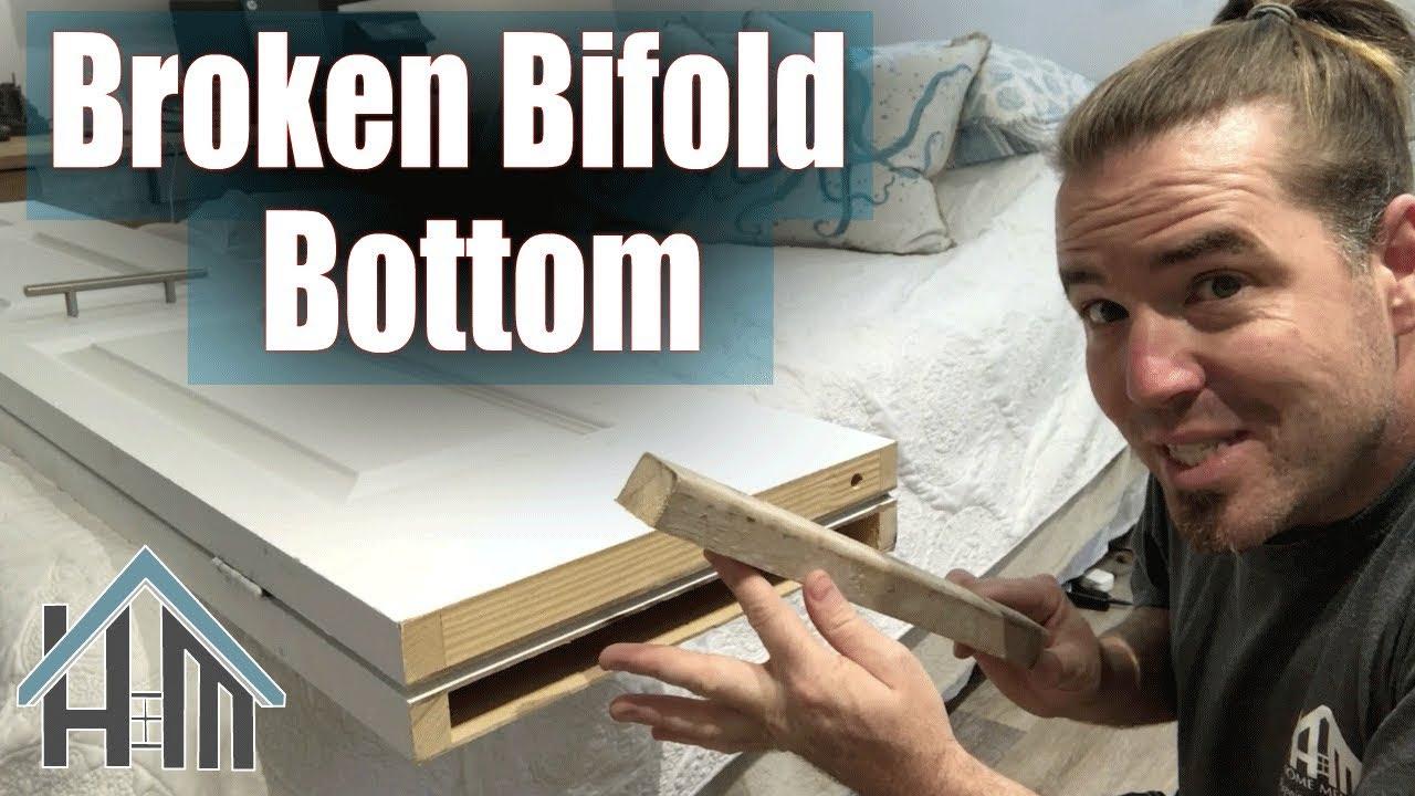 How To Repair Broken Bifold Door Top Or Bottom Easy