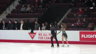 2020 Canadian Tire  Figure Skating Championships. Junior Ice Dance . Warm up -2 .