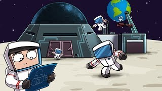 Minecraft | ESCAPING EARTH FOREVER - Moon Base! (Base vs Base Challenge)