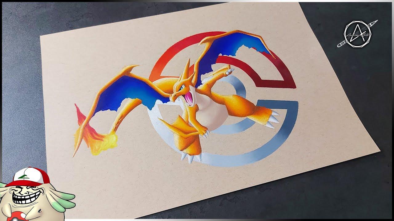 006 Mega Dracaufeu Y Mega Charizard Y Speed Drawing Pokemon Dessinez Les Tous