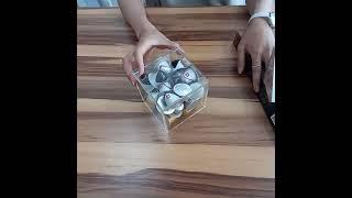 투명아크릴 네스카페, 네스프레소, 일리 커피캡슐 큐브형…