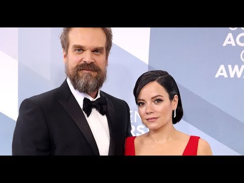 Lily Allen and David Harbour married by Elvis in Las Vegas