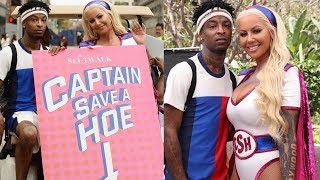 "21 Savage Supports Amber Rose ""Slut Walk"" 21 Savage Supports Girlfr..."