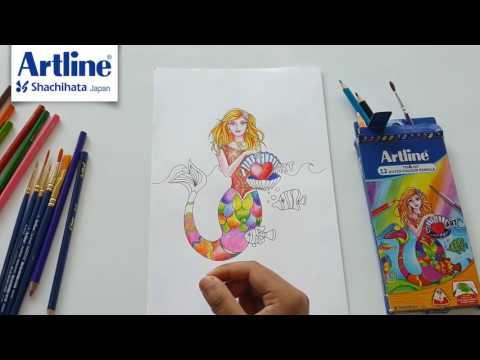 Artline Tri-Art water colour pencils.