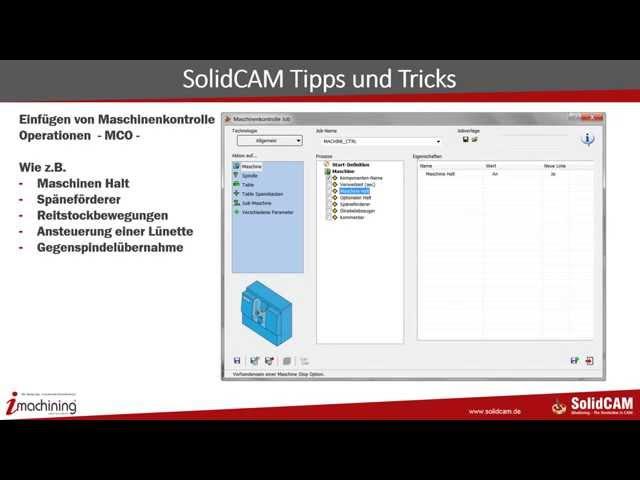 Maschinenkontrolle SolidCAM 2014