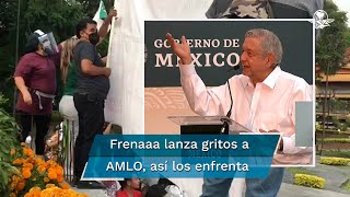 El presidente Andrés Manuel López Obrador aseguró que entre más le gritan y agreden más digno se siente, pues una veintena de simpatizantes de Frenaaa lo increpaban en un evento en el que estuvo acompañado del gobernador Cuauhtémoc Blanco