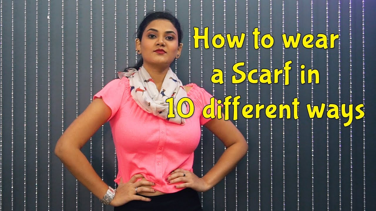 [VIDEO] - How to wear a Scarf in Different Ways | Outfit Ideas | How to Style | Scarf Styles for Girls 2