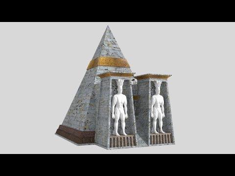 Fantasy Ancient Nubian Pyramid