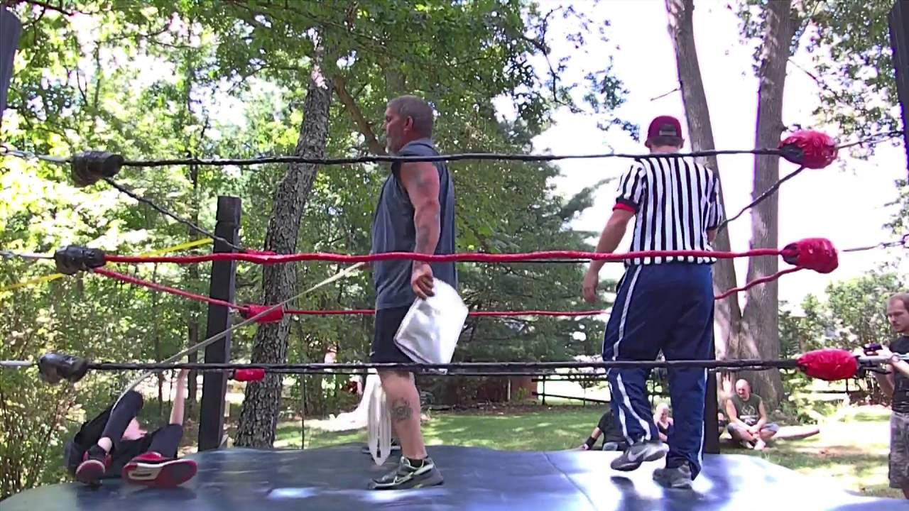 dominating backyard wrestling danger zone strap match youtube