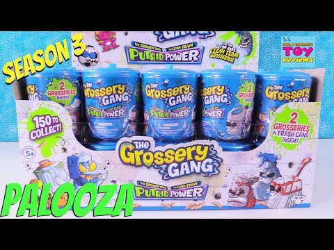 Season 3 Grossery Gang Full Box Palooza Putrid Power 2 Pack Toy Opening Review | PSToyReviews