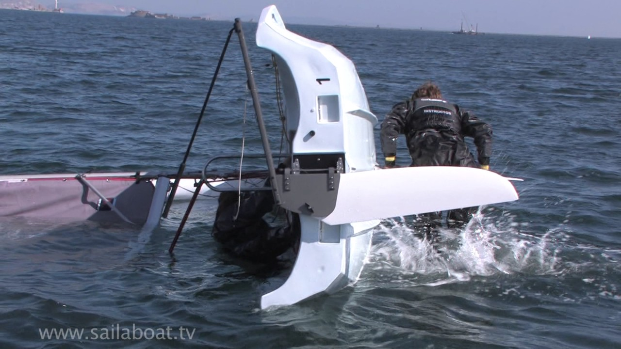How to deal with a capsized small sailboat - sailing dinghy