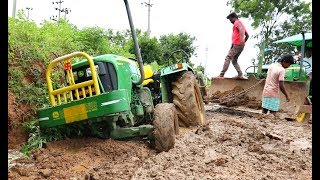 Tractor stuck in mud