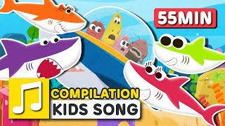 [Larva KIDS] BABY SHARK and other songs from Larva KIDS | 25 English Kids Songs | 55minutes