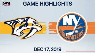 NHL Highlights   Predators vs Islanders – Dec. 17, 2019