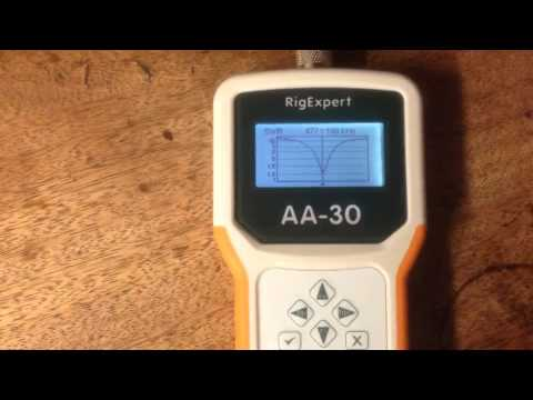 Using RigExpert AA-30 To check MF Antenna