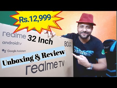 Realme Smart TV 32 Inch Unboxing And First Look In Hindi | Rs.12999 | Best Budget Smart TV In India