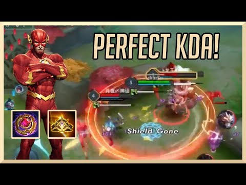 FLASH THE FASTEST BAN ALIVE (0 DEATH CLEAN GAME) | ARENA OF VALOR FLASH GAMEPLAY GUIDE