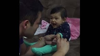 Tiny Drama Queen makes Daddy laugh