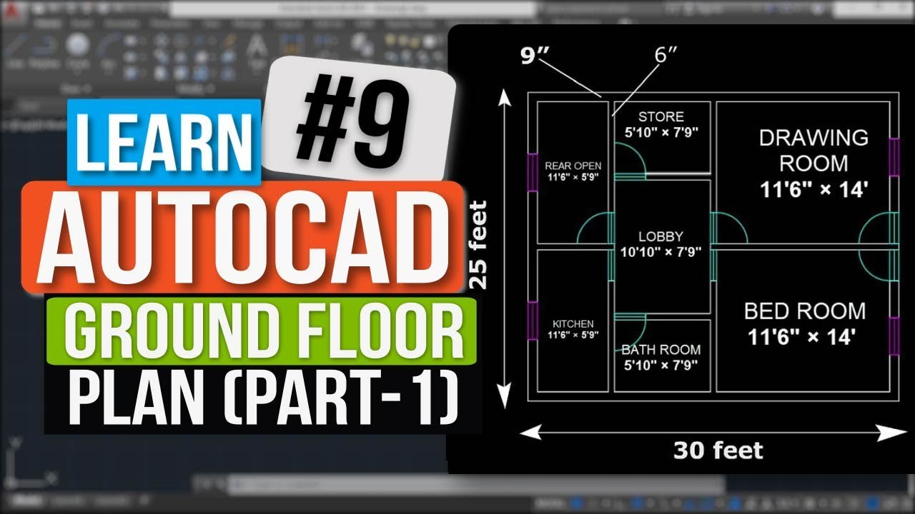 Luxury Autocad Tutorial In Hindi How To Make Ground Floor Plan Assignment