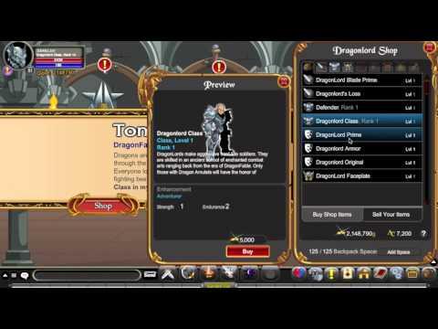 AQW Dragonlord Class Guide