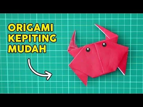 CARA MEMBUAT KEPITING DARI KERTAS ORIGAMI MUDAH BANGET DIY CRAB PAPER EASY   Tutorial Wow